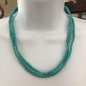 Imitation turquoise bead necklace